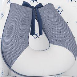 Almofada Amamentação Xadrez Vichy Azul Marinho