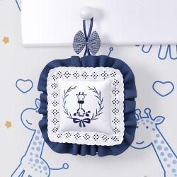 Porta Maternidade Girafinha Clássica Azul Marinho