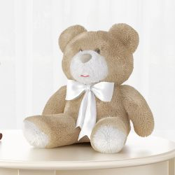 Urso Laço Branco 46cm