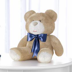 Urso Laço Marinho 46cm
