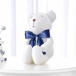 Urso Branco e Marinho Clássico 42cm
