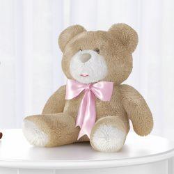 Urso Laço Rosa 46cm