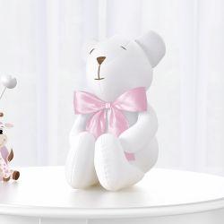 Urso Branco e Rosa Clássico 42cm