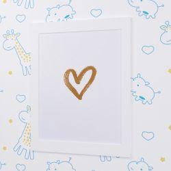 Quadro Coração Branco 35cm