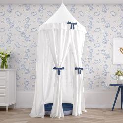 Tenda Dossel Girafinha Clássica Azul Marinho