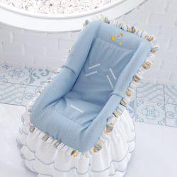 Capa para Bebê Conforto Patchwork Azul