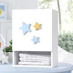 Porta Fraldas Estrelas Amarelo e Azul