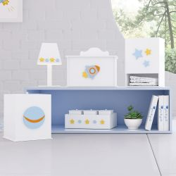 Kit Higiene Patchwork Azul