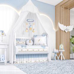 Quarto de Bebê Astronauta Patchwork Azul