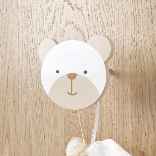 Cabideiro de Parede Urso Branco Clássico