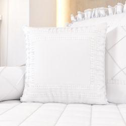 Almofada Branco Clássico 38cm