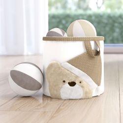 Cesto Organizador para Brinquedos Branco Clássico 22cm