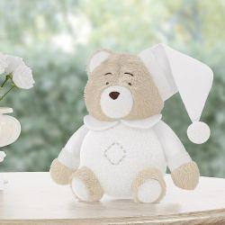 Urso de Pelúcia Soneca Branco 18cm