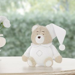 Urso Soneca Branco Clássico 12cm