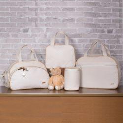 Conjunto de Bolsas Maternidade Valência Marfim