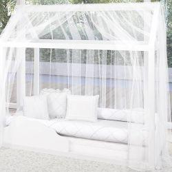 Mosquiteiro para Cama Casinha Montessoriana Branco Clássico
