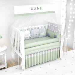 Quarto de Bebê Amiguinhos Verde 20 Peças