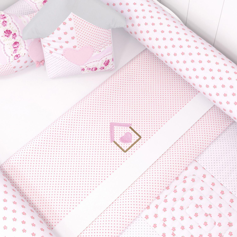 6fc939016 Jogo de Lençol para Mini Cama Patchwork Rosa