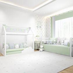 Quarto de Bebê Montessoriano Amiguinhos Verde