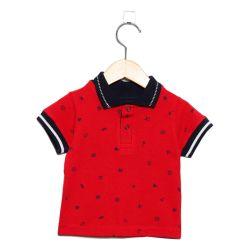 Camisa Polo Vermelha 3 a 6 Meses