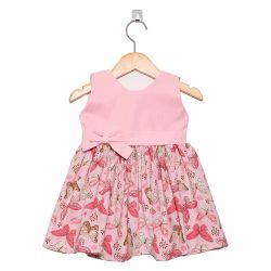 Vestido Borboleta Rosa Bebê 3 a 6 Meses