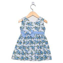 Vestido Floral Azul Bebê 3 a 6 Meses
