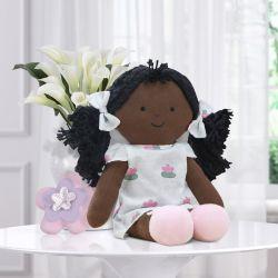 Boneca Negra de Pano Liz Floral Monet