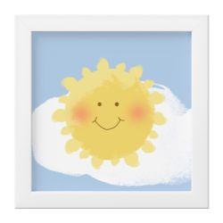 Quadro Sol Sorridente no Céu Azul