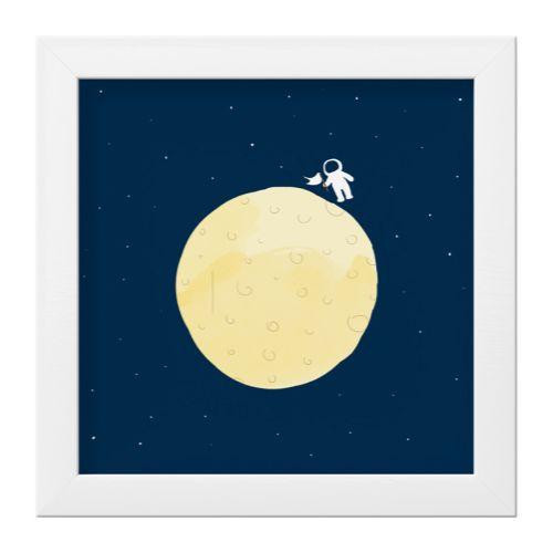 Quadro Astronauta na Lua