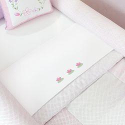 Jogo de Lençol para Mini Cama Floral Monet
