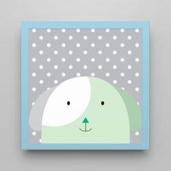 Quadro Amiguinho Cachorrinho Verde/Azul 18cm