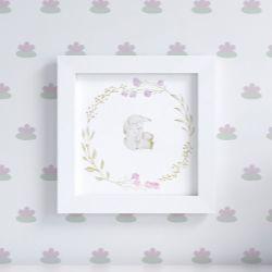 Quadro Coelhinho Floral Monet 20cm