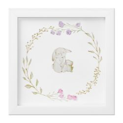 Quadro Coelhinho Floral Monet