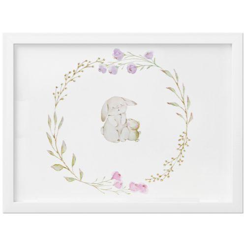 Quadro Coelhinho Floral Monet 35cm