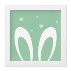 Quadro Amiguinho Orelhinhas Verde/Branco