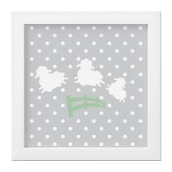 Quadro Amiguinho Ovelhinhas Verde/Branco