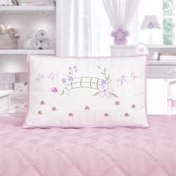 Mini Cabeceira Bordada Infantil Floral Monet