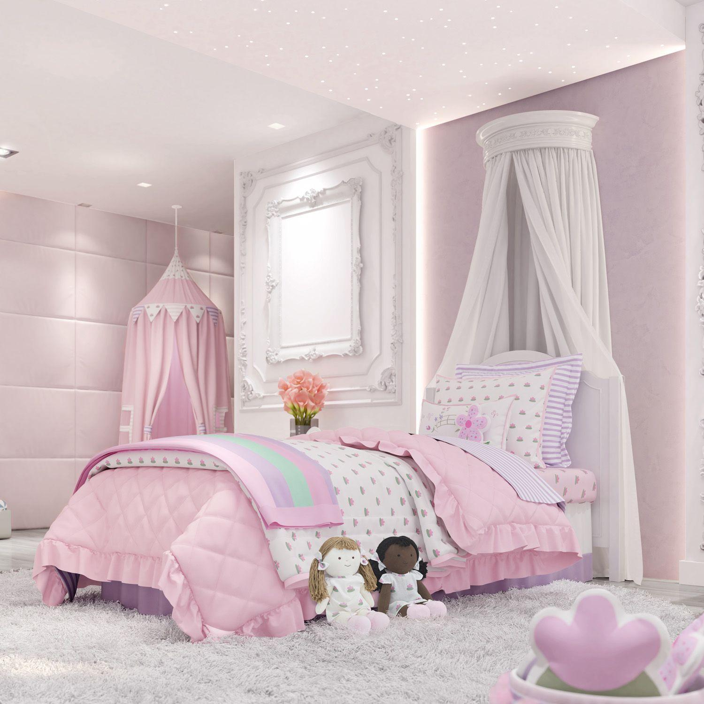 381dff1a3b Quarto Infantil Floral Monet