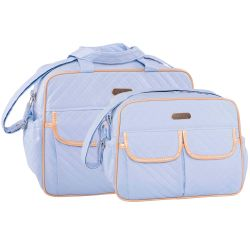 Conjunto de Bolsas Maternidade Nice Azul