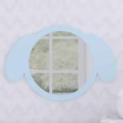 Espelho Redondo Amiguinho Cachorrinho Azul 30cm