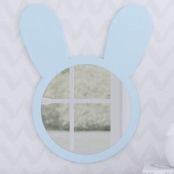 Espelho Redondo Amiguinho Coelhinho Azul 44cm