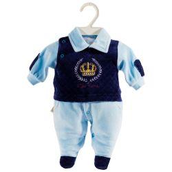 Macacão Longo Plush Meu Reino Azul Bebê Prematuro