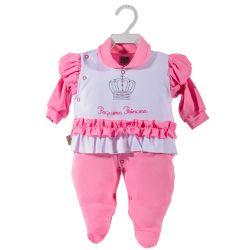 Macacão Longo Suedine Pequena Princesa Pink