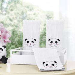 Jogo de Fraldas de Boca Urso Panda Floral Moderna