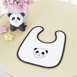 Babador Urso Panda Floral Moderna