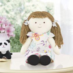 Boneca Branca de Pano Vivi Floral Moderna
