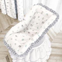 Capa de Bebê Conforto Raposinha Cinza