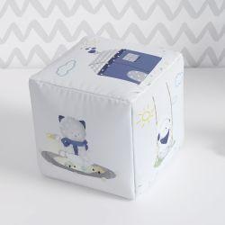Almofada Dado Infantil Amiguinhos Azul Marinho 20cm