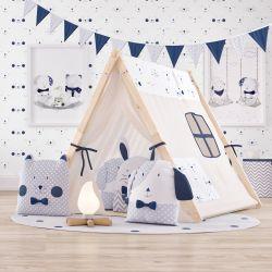 Cabana Quarto Infantil Amiguinhos Azul Marinho