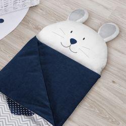 Saco de Dormir Infantil Amiguinho Coelhinho Azul Marinho 1,60m